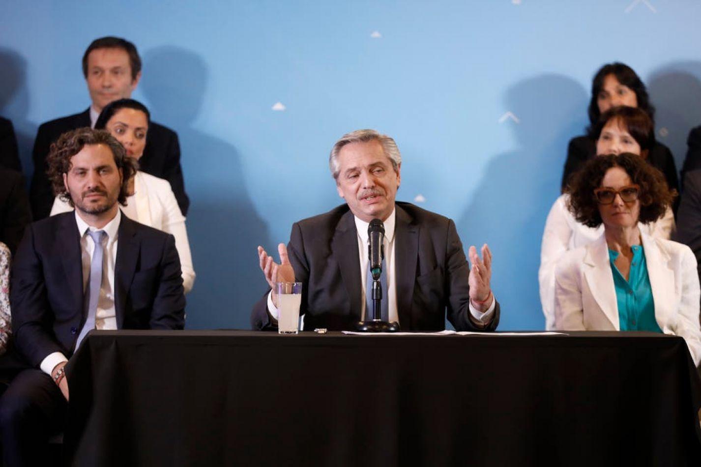 Alberto Fernández anuncia su gabinete