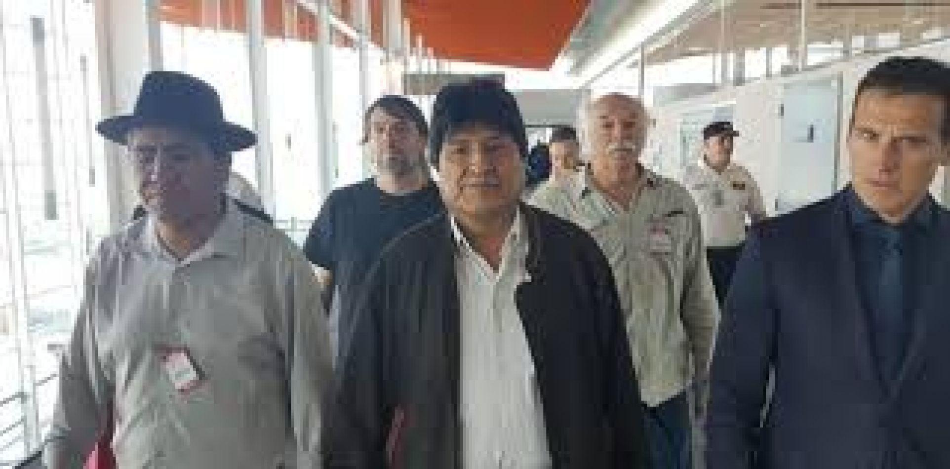 Morales a su llegada al país